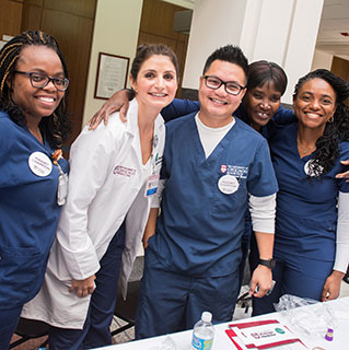 Nurses and staff participate in a day-long educational fair to learn about UChicago Medicine's journey towards Magnet Recognition, a nursing accreditation that honors an institution's excellence in nursing and overall patient care.