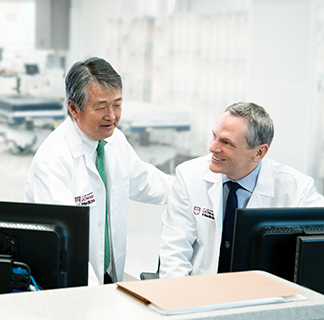 Dr. Fung and Dr. Charlton, co-directors of the transplant institute