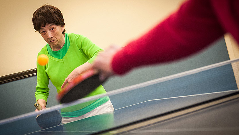 Cheng Xiu Xu plays ping pong after undergoing DBS for Parkinson