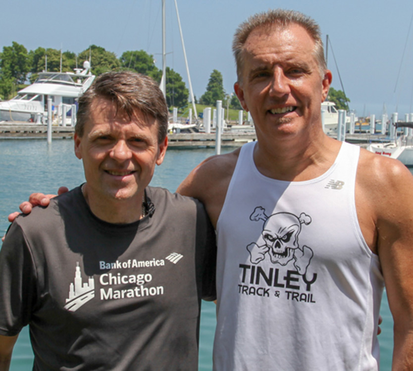 Rich Matula with his kidney donor and running friend, Mark
