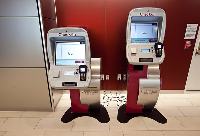 Self check-in kiosk enables easy appointment facilitation