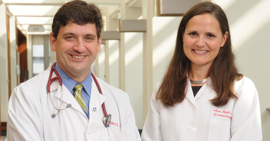 Medical oncologist Blase Polite, MD, and gastroenterologist Sonia Kupfer, MD