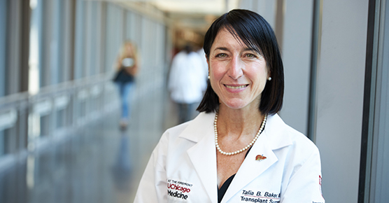 Portrait of Dr. Talia Baker of the Liver Transplant team at the University of Chicago Medicine