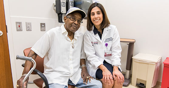 Dr. Uzma Siddiqui with patient Morris on Monday, July 9, 2018 in the Center for Care and Discovery