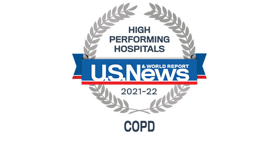 US News and World Report 2019-20 Badge for COPD