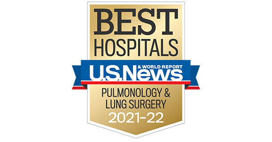 US News and World Report 2019-20 Badge for Lung Cancer Surgery
