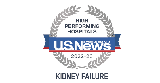 US News and World Report 2019-20 Badge for Nephrology