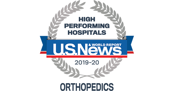 US News and World Report 2019-20 Badge for Orthopedics
