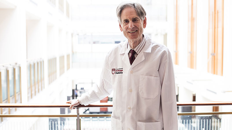 Dr. Ralph Weichselbaum, MD poses for a portrait at the University of Chicago on Tuesday, May 1, 2018