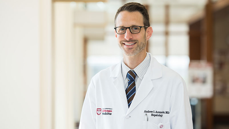Portrait of Dr. Andrew Aronsohn, liver disease specialist