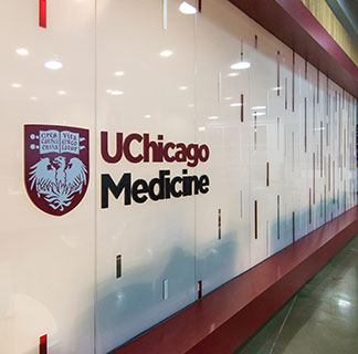 UChicago Medicine sign outside of the South Loop clinic