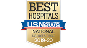 US News and World Report 2019-20 Badge for ENT