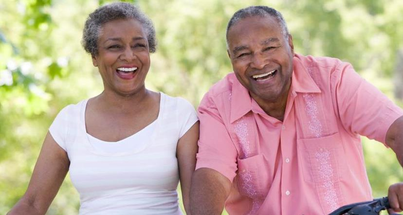 smiling older African-American couple