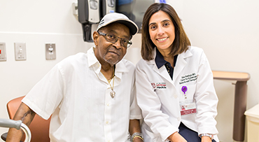 Dr. Uzma Siddiqui and her patient Morris on Monday, July 9, 2018 in the Center for Care and Discovery on the University of Chicago campus in Chicago.