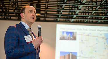 Dr. David Rubin, MD, addresses the audience during a UChicago Medicine Alumni Reception
