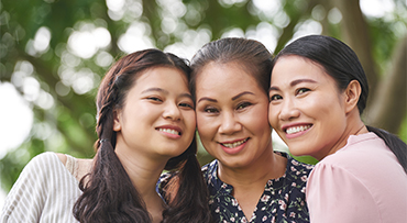 Female generation: Grandmother, mother and daughter