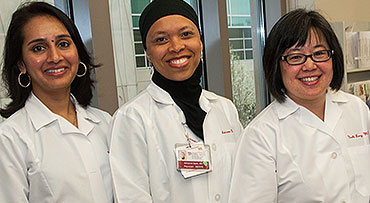 Drs. Maryam Siddiqui, Adrianne Dade and Nicole Leong