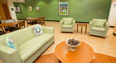 Family Birth Center lounge at Comer Children's in Hyde Park