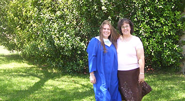 Graduation photo of Alyssa Smith, recipient of world's first successful living-donor liver transplant. Alyssa's transplant procedure was performed in 1989, and the donor was Teri Smith, Alyssa's mother.
