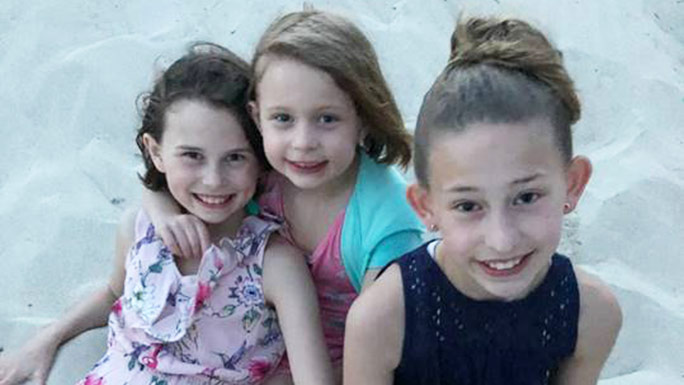 The Carlino girls: Gianna, 10, Siena, 7, and Lucia, 5